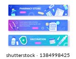 pharmacy and vaccination... | Shutterstock .eps vector #1384998425