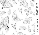 mint leaves seamless pattern ... | Shutterstock .eps vector #1384999028