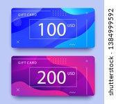 gift voucher template with...   Shutterstock .eps vector #1384999592