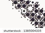 islamic arabesque design... | Shutterstock .eps vector #1385004335