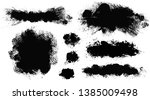 brush strokes. vector... | Shutterstock .eps vector #1385009498