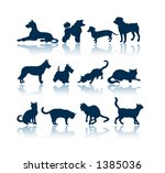 Stock vector pets silhouettes to see all my silhouettes search by keywords agb svect or agb srastr 1385036
