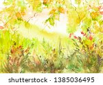 Watercolor Country Forest...