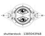 eye of providence. masonic... | Shutterstock .eps vector #1385043968