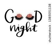 vector handwritten quote. good... | Shutterstock .eps vector #1385051138