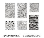 hand drawn textures and brush... | Shutterstock .eps vector #1385060198