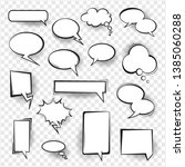 retro comic empty speech... | Shutterstock .eps vector #1385060288