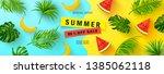 summer sale banner. beautiful... | Shutterstock .eps vector #1385062118