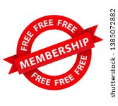 free membership red vector... | Shutterstock .eps vector #1385072882