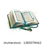 Holy Book Of Koran With Rosary...