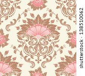 vector damask seamless pattern... | Shutterstock .eps vector #138510062