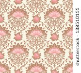 vector damask seamless pattern... | Shutterstock .eps vector #138510155