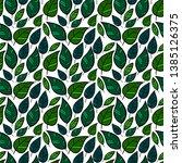 seamless plants vector pattern... | Shutterstock .eps vector #1385126375