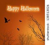 a silhouette halloween... | Shutterstock . vector #138513026
