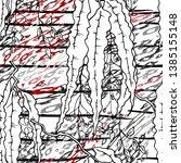 modern stripes jungle motif....   Shutterstock .eps vector #1385155148