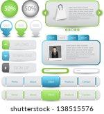 web designing element set | Shutterstock .eps vector #138515576