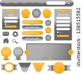 web designing element set | Shutterstock .eps vector #138515582