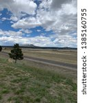 long lonesome highway with pine ... | Shutterstock . vector #1385160755