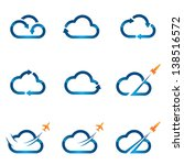 Set Of Cloud Icons 1