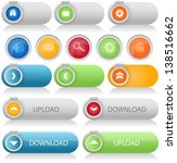 set of web buttons | Shutterstock .eps vector #138516662