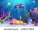 illustration of the underwater... | Shutterstock .eps vector #138517805