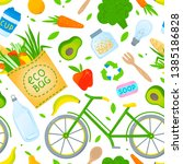 eco friendly lifestyle seamless ... | Shutterstock .eps vector #1385186828