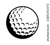 Vector Golf Ball   Black And...