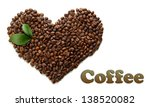 coffee beans with leaves... | Shutterstock . vector #138520082