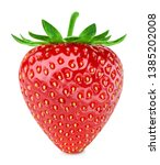 strawberries isolated on white... | Shutterstock . vector #1385202008