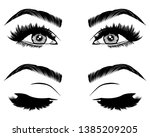 illustration with woman's eyes  ... | Shutterstock .eps vector #1385209205