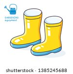 wellies gum boots isolated icon ... | Shutterstock .eps vector #1385245688