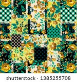 colorful and stylish floral... | Shutterstock . vector #1385255708