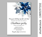 winter floral christmas party... | Shutterstock .eps vector #1385257232