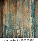 Old Wall From Wooden Planks...