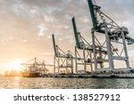 trade boat at the port of miami | Shutterstock . vector #138527912