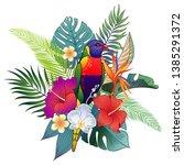 beautiful tropical exotic...   Shutterstock .eps vector #1385291372