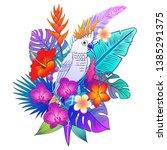 beautiful tropical exotic...   Shutterstock .eps vector #1385291375