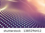 abstract polygonal space low... | Shutterstock . vector #1385296412