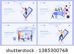set of flat design concept... | Shutterstock .eps vector #1385300768