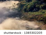 samaba rice terrace fields in... | Shutterstock . vector #1385302205