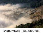 samaba rice terrace fields in... | Shutterstock . vector #1385302208