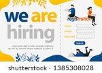 registration of new employees... | Shutterstock .eps vector #1385308028