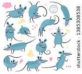 set of funny rats for design....   Shutterstock .eps vector #1385308538