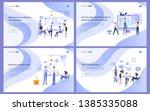 set of flat design concept... | Shutterstock .eps vector #1385335088