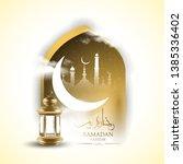 ramadan kareem islamic... | Shutterstock .eps vector #1385336402