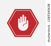 stop mark sign icon vector... | Shutterstock .eps vector #1385340638