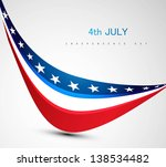 american flag  wave vector... | Shutterstock .eps vector #138534482
