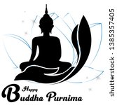 illustration of buddha purnima... | Shutterstock .eps vector #1385357405