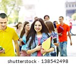 group happy people wit in... | Shutterstock . vector #138542498