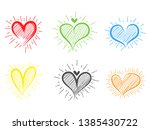 different graphic hearts... | Shutterstock .eps vector #1385430722